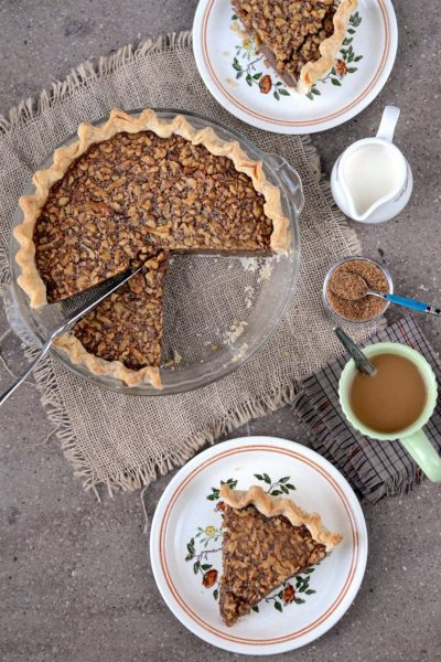 Cut Up Maple Walnut Pie Web 400x600 - Maple Walnut Pie