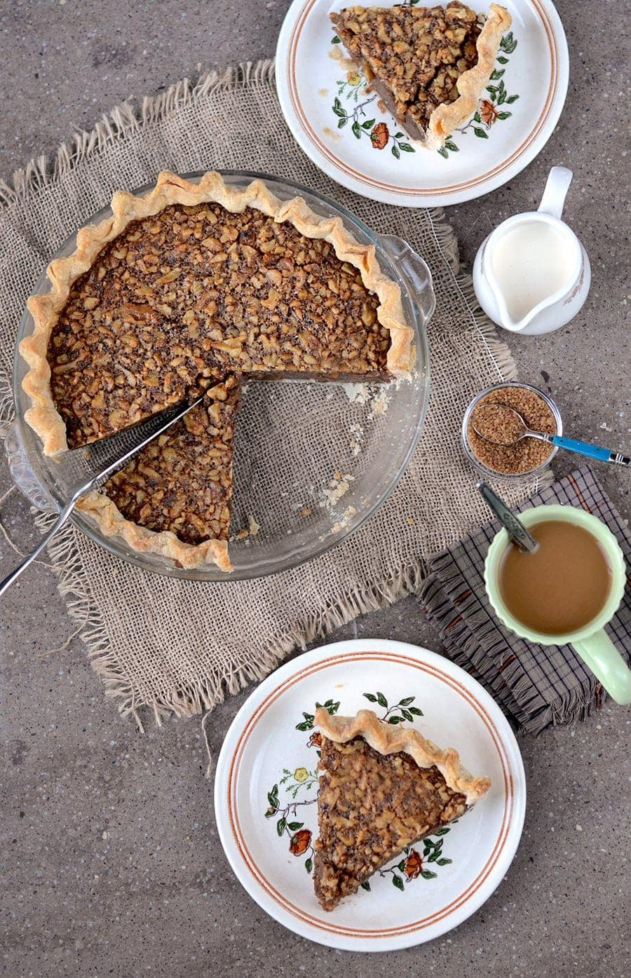 Cut Up Maple Walnut Pie Web - Maple Walnut Pie