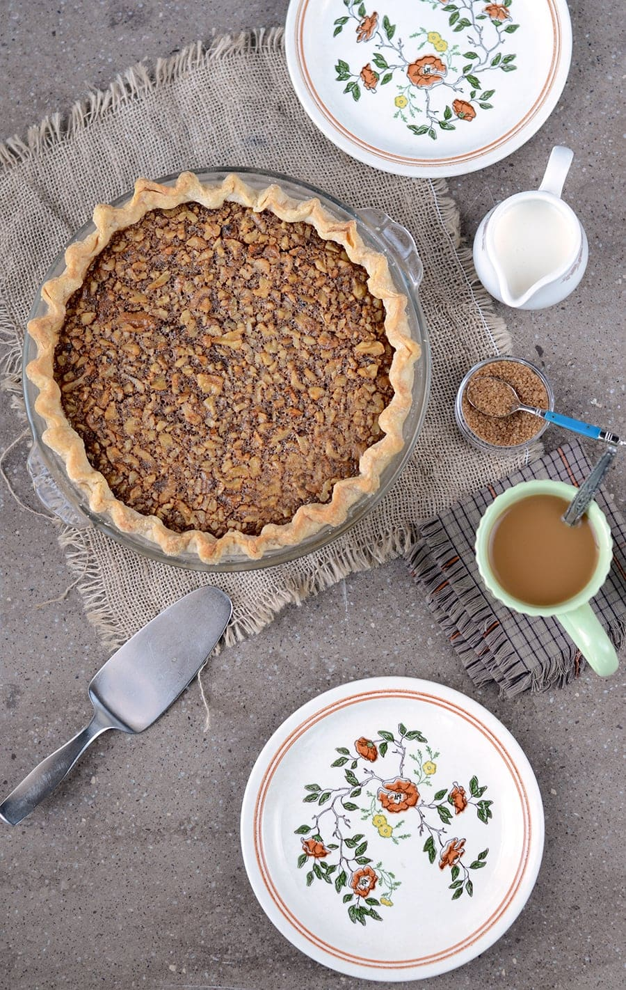 You'll love this alternative to pecan pie, Maple Walnut Pie! There's no corn syrup, but there's real maple syrup and a hint of whiskey to spice things up!