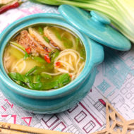 Chinese Noodle Soup with homemade noodles- inspired by a sister getaway to NYC!