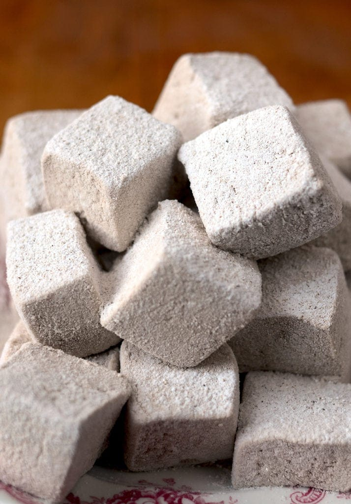 Closeup of Marshmallows Web 714x1024 - Spicy Gingerbread Marshmallows