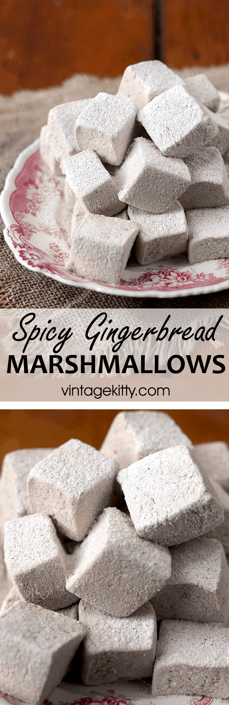 Gingerbread Marshmallow Pin - Spicy Gingerbread Marshmallows