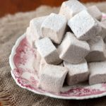 plate of gingerbread marshmallows