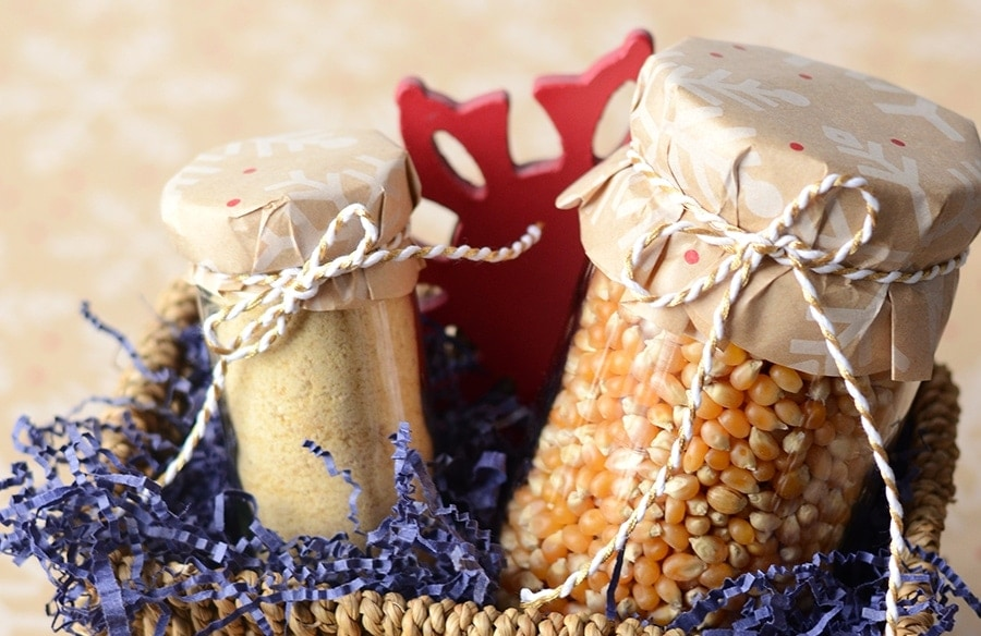 Peanut Brittle Popcorn Topping Gift Basket Slider - Unique Foodie Gifts Made in America