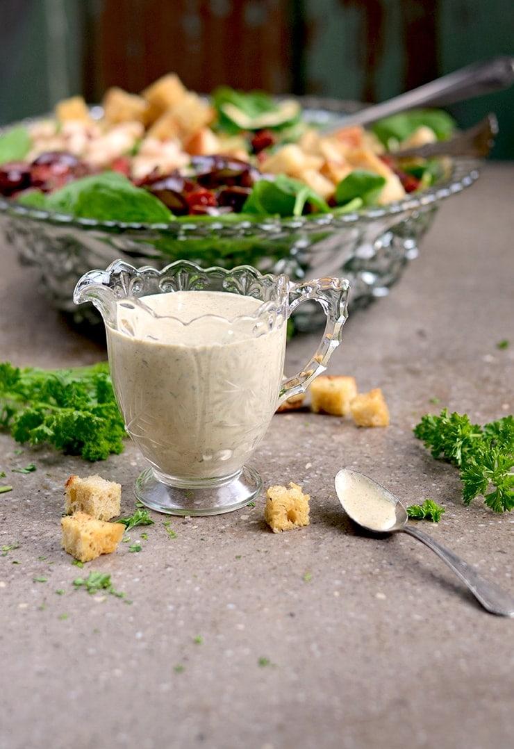 Creamy Italian Dressing Vegan GF Web - Vegan Creamy Italian Salad Dressing