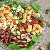 Italian Power Salad with White Beans, Sun-dried Tomatoes and Creamy Italian Salad Dressing