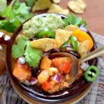 Spoonful of Vegan Sweet Potato Chili Pin 150x150 - Vegan Guinness Barley Stew
