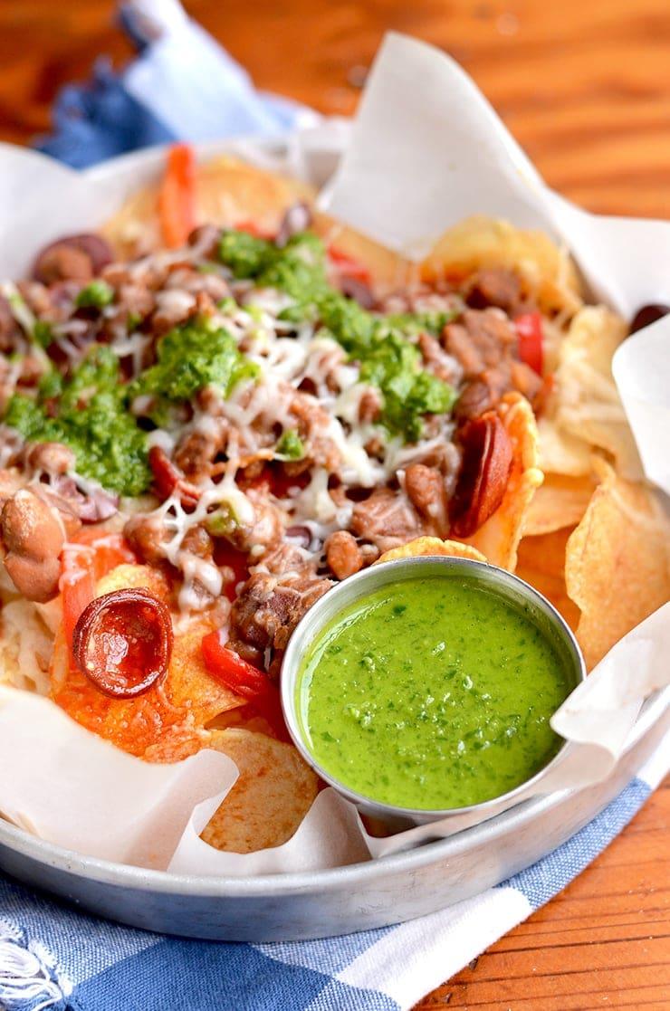 Chimichurri Web - Spanish Potato Nachos with Chimichurri