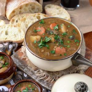 Pot of Vegan Barley Guinness Stew Web 300x300 - Vegan Guinness Barley Stew
