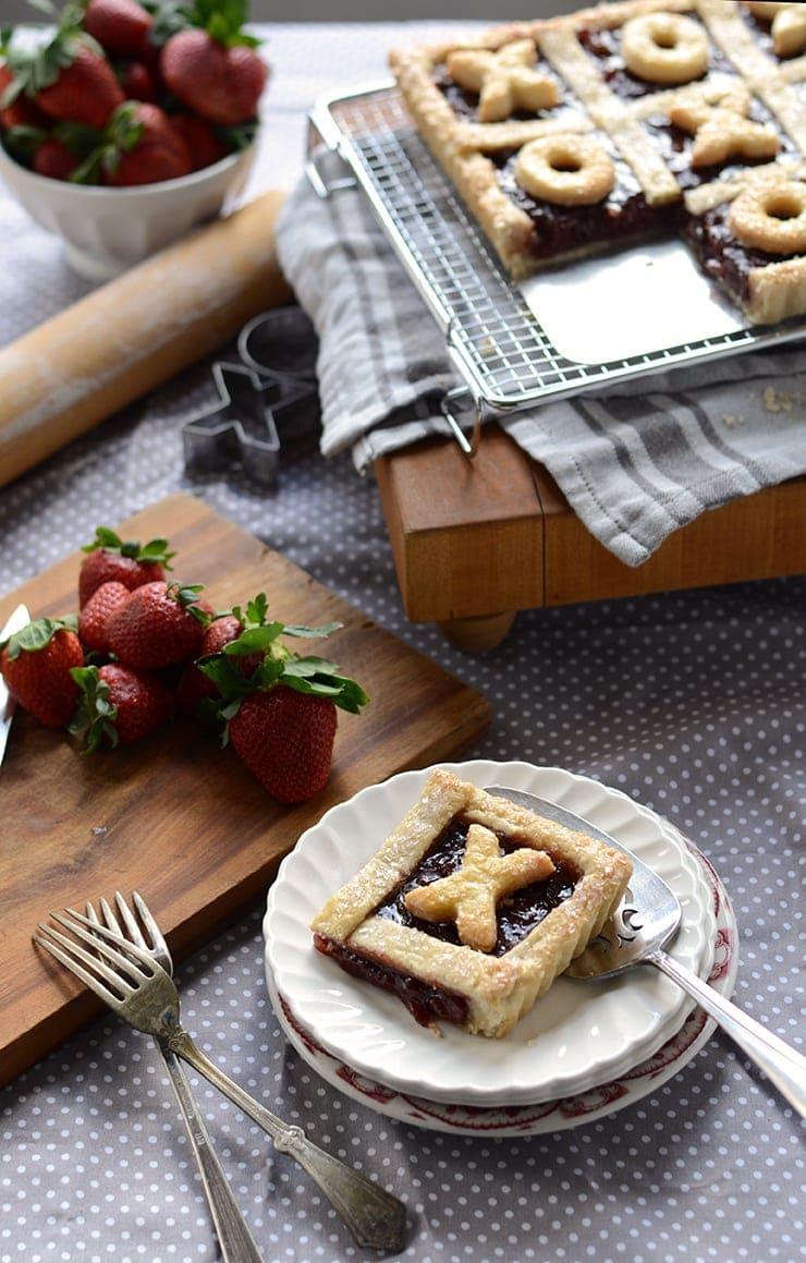 Serving Strawberry Jalapeno Tart Web - Strawberry Jalapeno Tic Tac Toe Tart