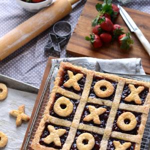 XOXO Tart Web 300x300 - Strawberry Jalapeno Tic Tac Toe Tart