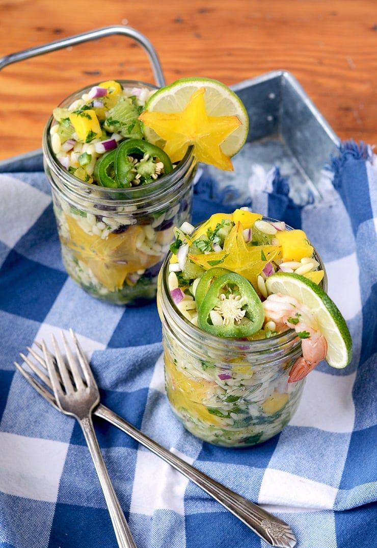 Orzo Salad Web - Picnic Under the Stars #diydatenight