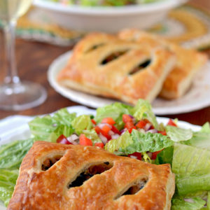 Sausage Kale Cheese Puff Pastry Pockets Web 300x300 - Sausage and Kale Puff Pastry Pockets with Parmesan and Mozzarella