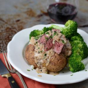 Steak au Poivre Baked Potatoes 300x300 - Easy Steak au Poivre Baked Potatoes