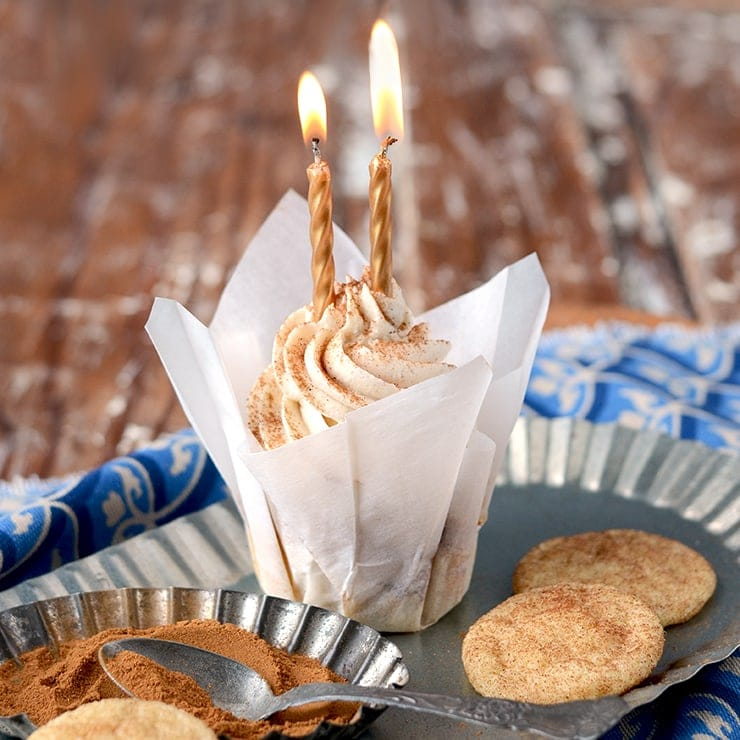 Candles Web Square - Snickerdoodle Cupcakes</br> + Happy Birthday to Vintage Kitty!