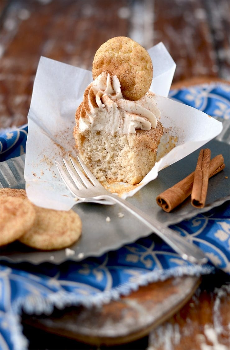 Eaten Cupcake Web - Snickerdoodle Cupcakes</br> + Happy Birthday to Vintage Kitty!