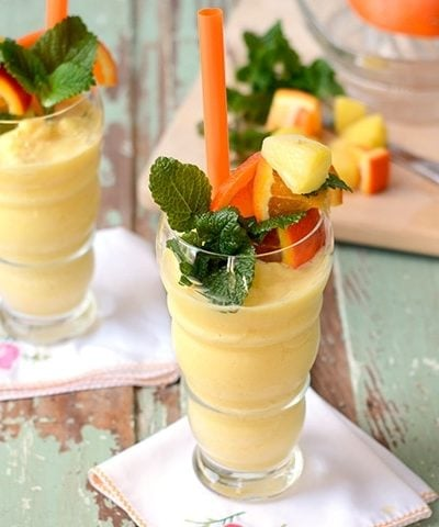 Horizonatal Pineapple Orange Smoothie Web 400x480 - Pineapple Orange Creamsicle Smoothie