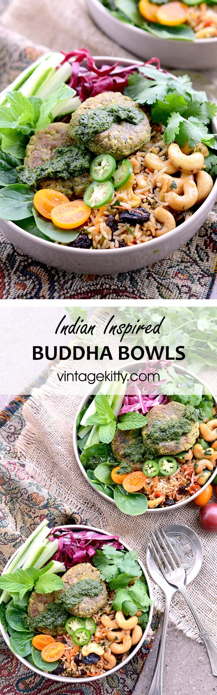 Indian Inspired Buddha Bowls - Earth Day #diydatenight