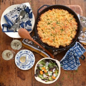Vegaetarian BBQ Lentil Bake Web 300x300 - Barbecue Lentil Casserole with Cheddar Cornmeal Biscuit Topping