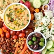 Zesty Harissa Hummus Recipe + Platter Ideas