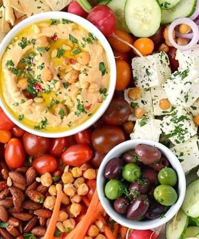Harissa Hummus Horizontal Web 400x480 - Zesty Harissa Hummus Recipe + Platter Ideas