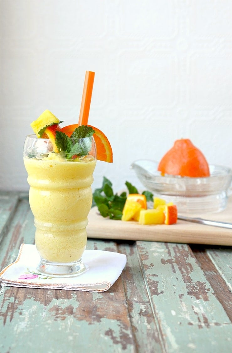 Pineapple Orange Creamsicle Smoothie - Pineapple Orange Creamsicle Smoothie