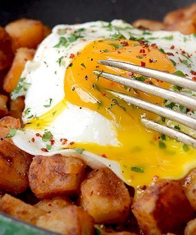 DSC 4268 web slider 400x480 - Crispy Aleppo Pepper Breakfast Potatoes with Sunny Side Up Eggs