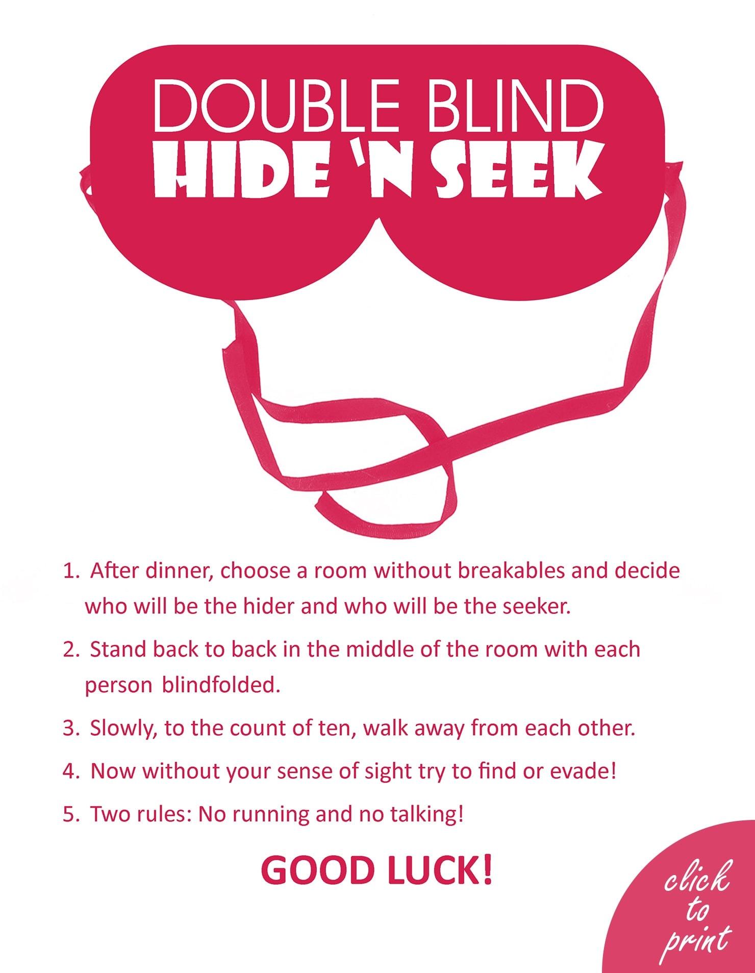 Hide n Seek 2 1480 - Blind Date #diydatenight