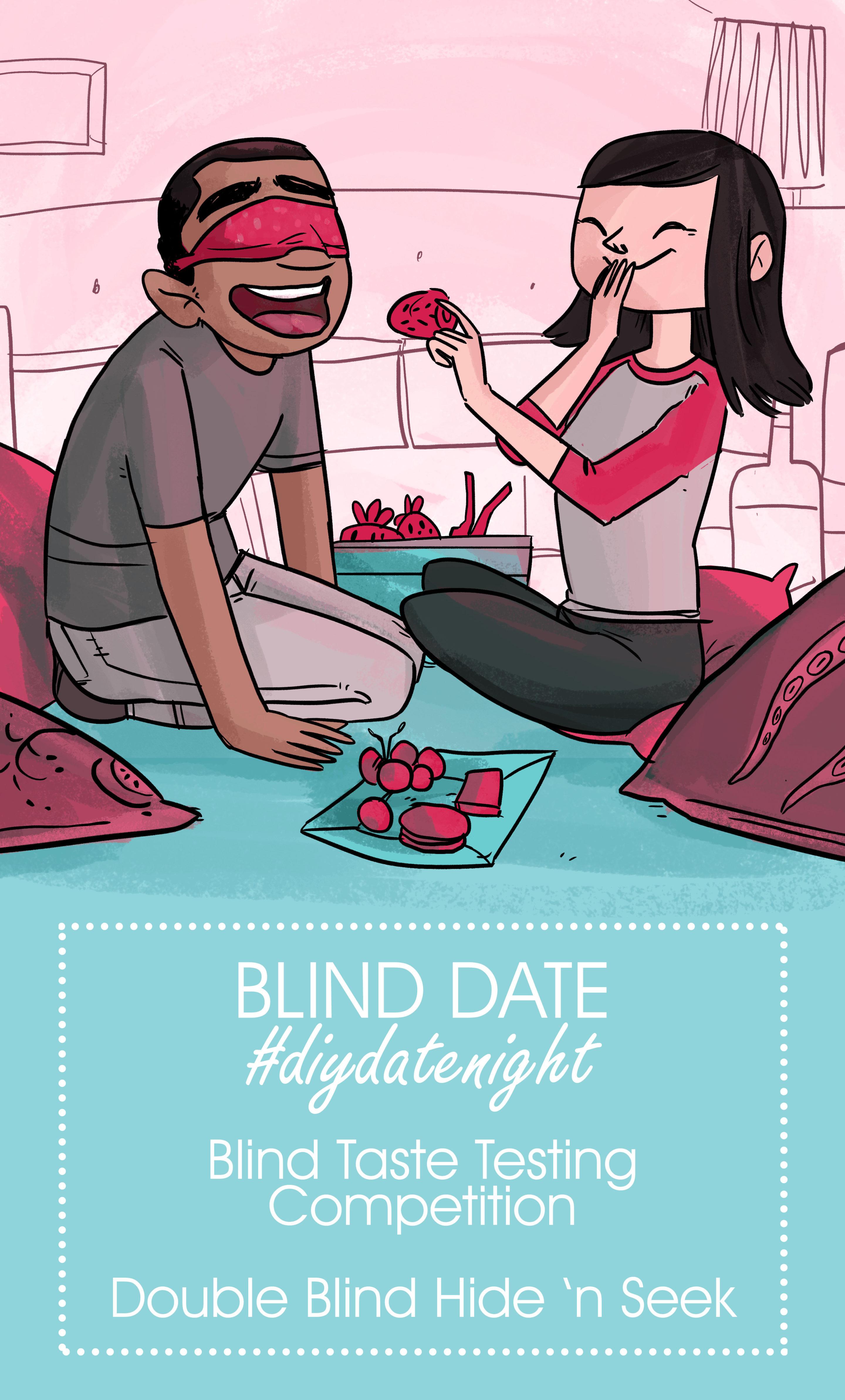 Illustration with Text - Blind Date #diydatenight