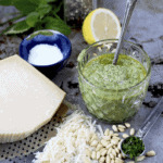 Lemon Balm Pesto 150x150 - Mulberry Tart with Cardamom and Black Pepper