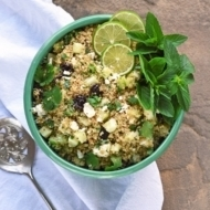 Rice Cooker Quinoa Salad with Feta and Dried Cherries