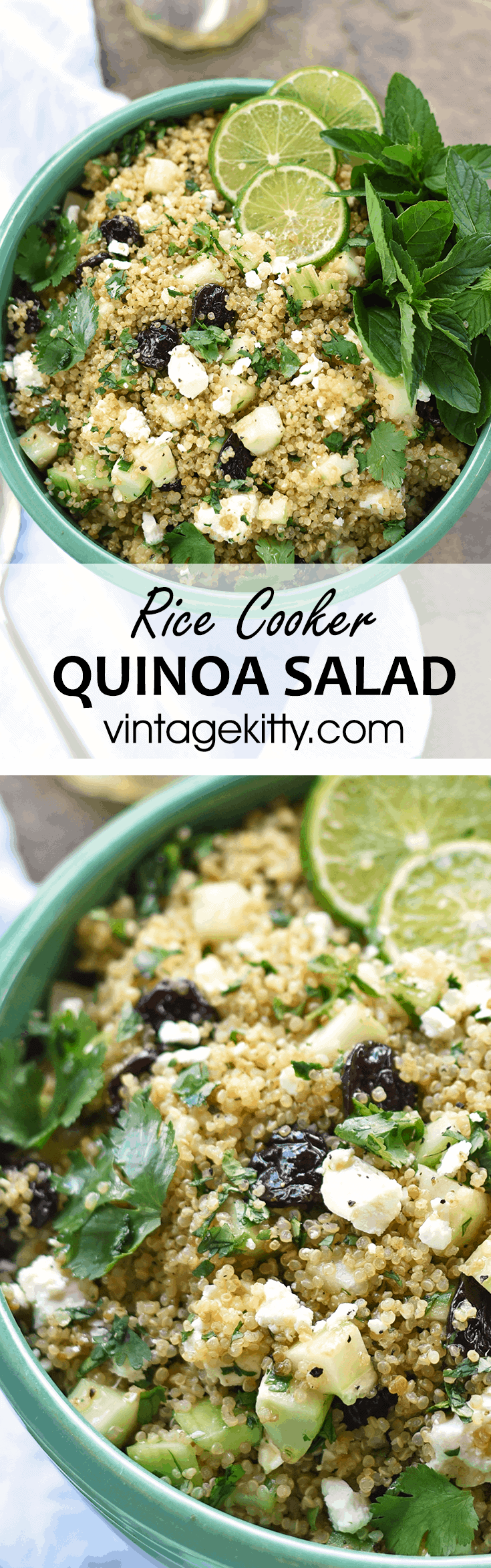 Rice Cooker Quinoa Salad Pin - Rice Cooker Quinoa Salad with Feta and Dried Cherries
