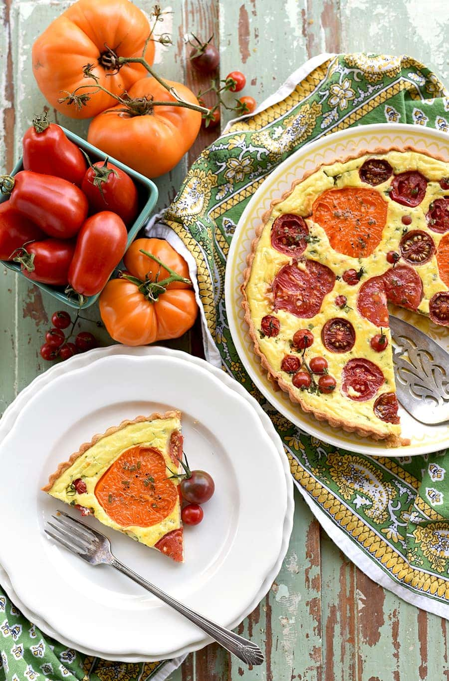 Heirloom Tomato Tart 1246 Web - Heirloom Tomato Tart