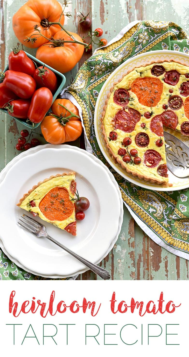 Tomato Tart Pin - Heirloom Tomato Tart