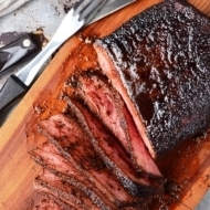 Coffee Rubbed London Broil Recipe