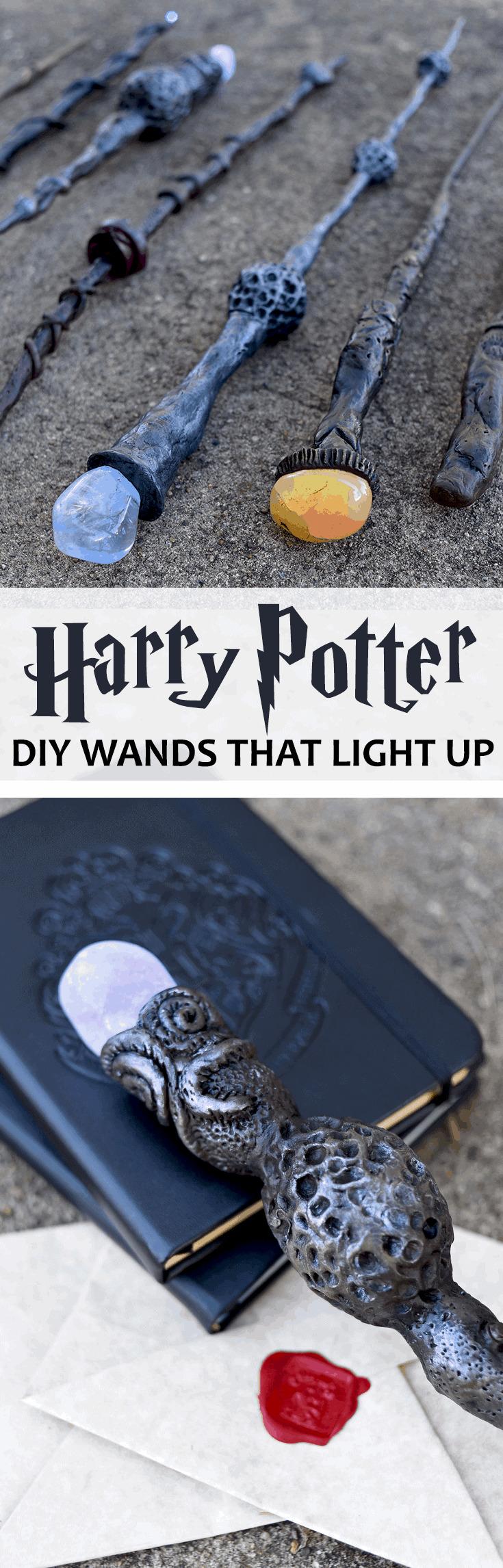DIY HARRY POTTER WANDS PIN - DIY Harry Potter Wands
