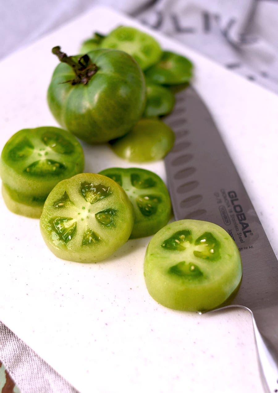Fried Green Tomatoes 5105 Web - Fried Green Tomatoes </br>with Whipped Herb Chevre