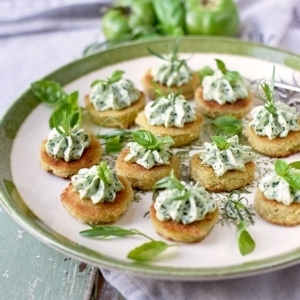 Fried Green Tomatoes 5212 Web 300x300 - Fried Green Tomatoes </br>with Whipped Herb Chevre
