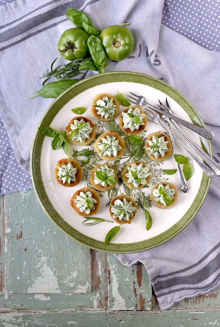 Fried Green Tomatoes 5226 Web - Fried Green Tomatoes </br>with Whipped Herb Chevre