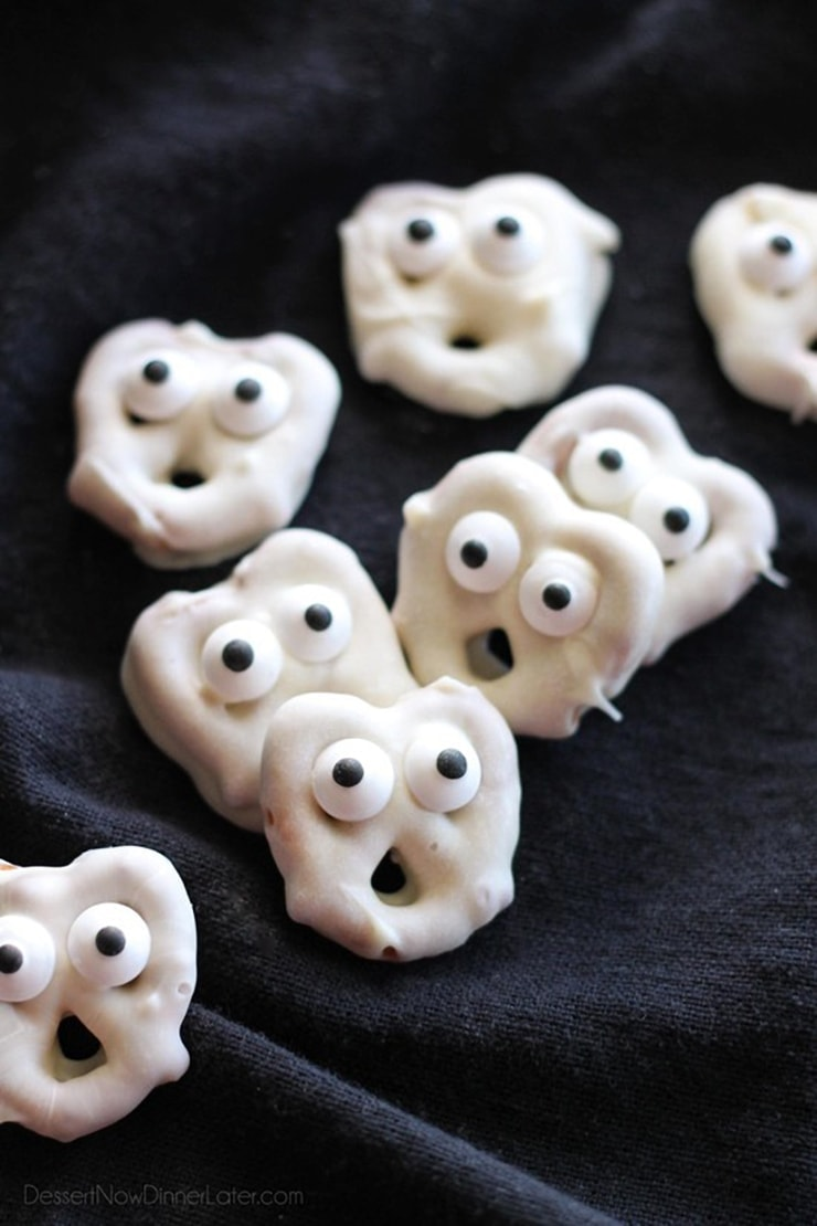 Ghost Pretzels 2 - Ghoulishly Good! </br>Halloween Party Recipes and Ideas