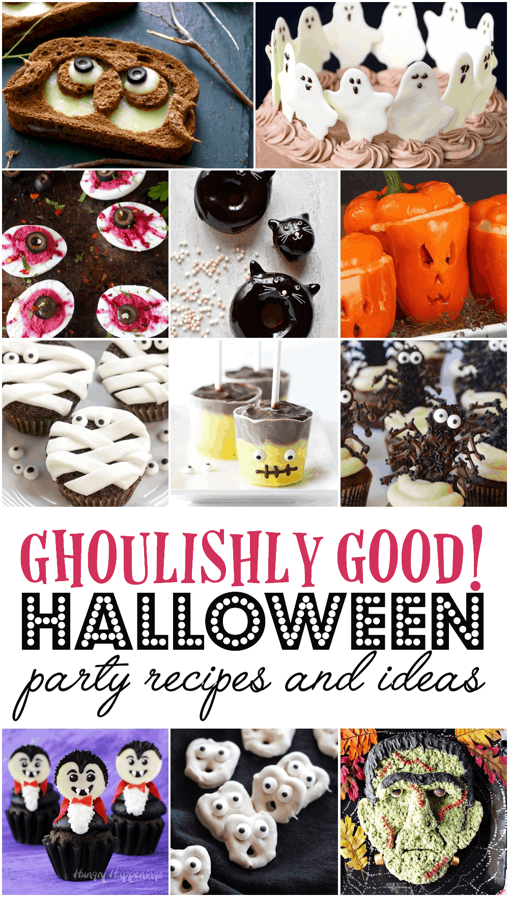 Ghoulishly Good! #Halloween Party Recipes and Ideas--Get your spook on this Halloween! Check out our collection of charmingly frightful  foods that will make your holiday a chilling success!--