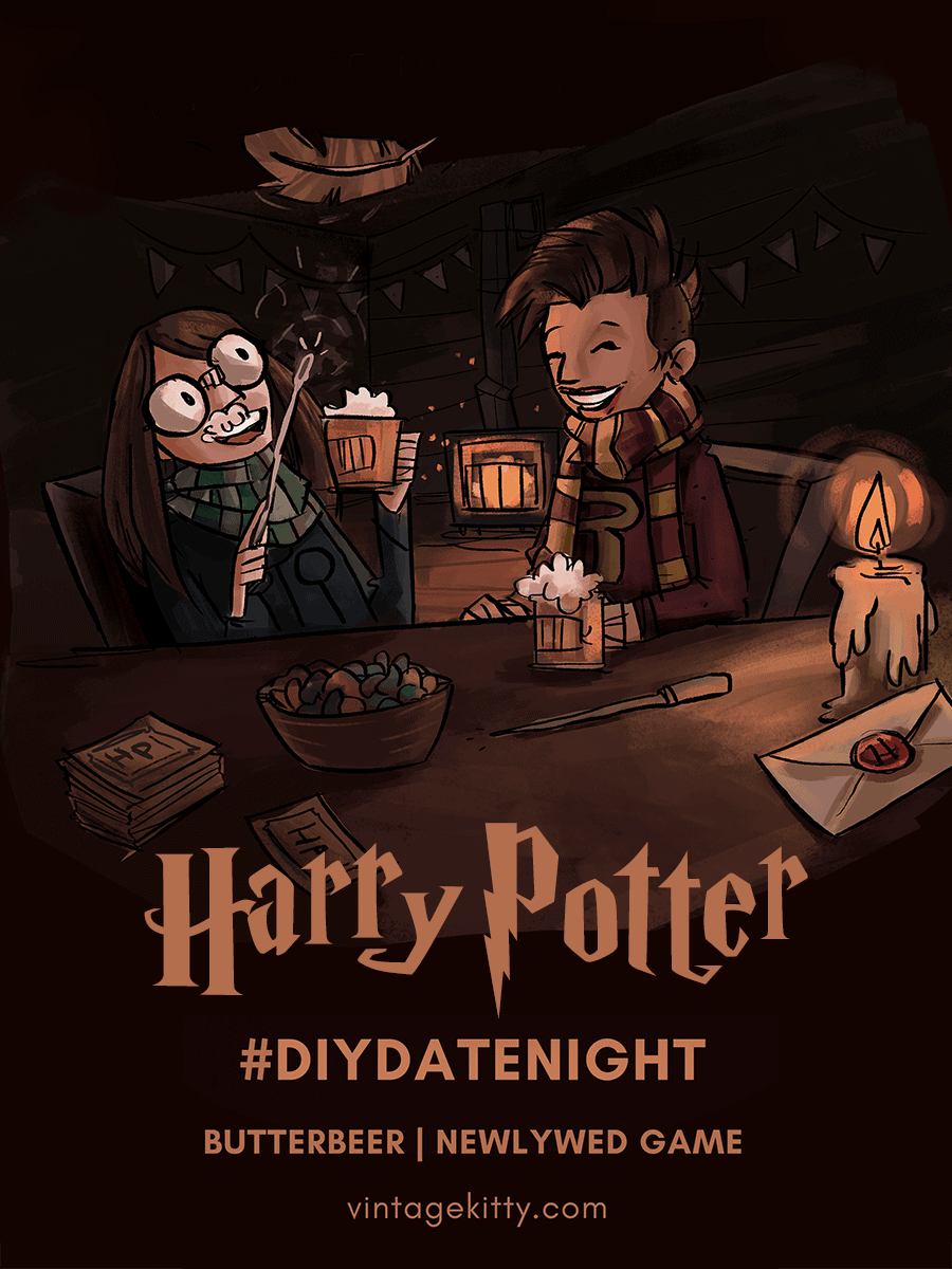 Bring on the magic with this Harry Potter themed #datenight! It's time to drink boozy butterbeer and see how well you know each other.