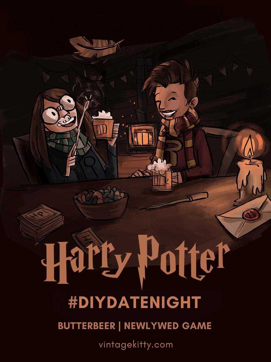 HARRY POTTER DIYDN PIN 2 - Harry Potter #diydatenight