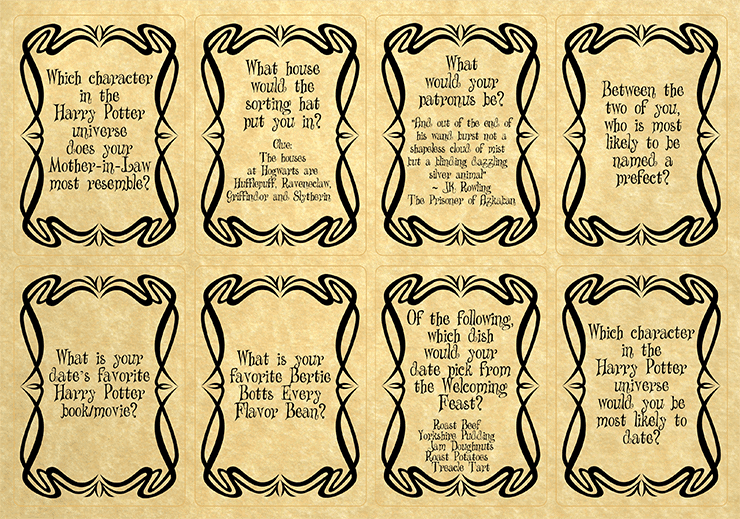 Harry Potter Newlywed Game page 1 Web - Harry Potter Newlywed Game