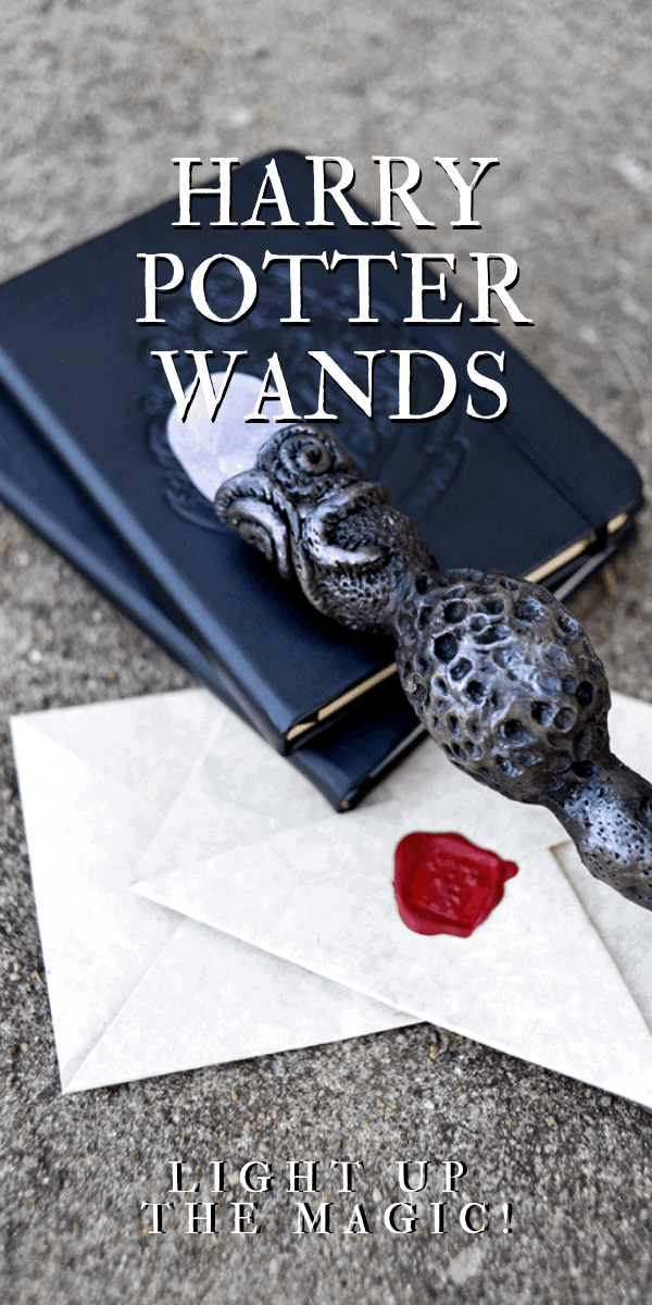 Fans will love these DIY #HarryPotter Wands! Follow our tutorial to make a one-of-a-kind wand that glows! Just imagine the spells you'll cast! #harrypotter #wands #halloween #diy #crafts #cosplay #prop #hogwarts