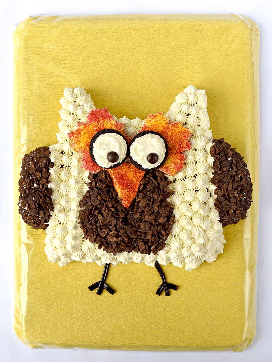 We're putting our twist on the classic cut-up cake genre. Our #owlcake is easy to make and doesn't require any special equipment. More importantly it's a hoot to make!