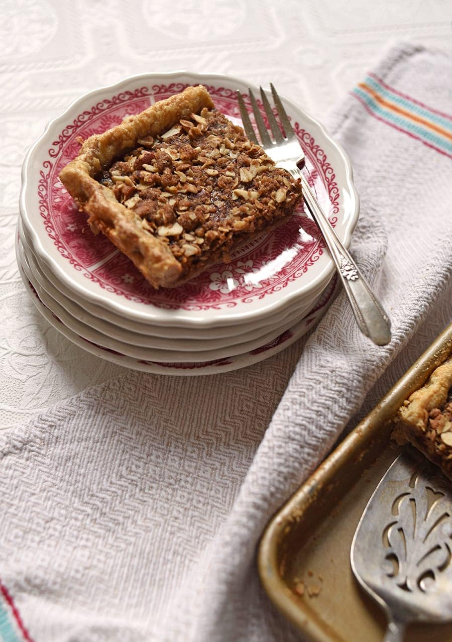 Apple Butter Crumb Slab Pie 5793 Web - Apple Slab Pie with Crumb Topping and Cinnamon Pie Crust