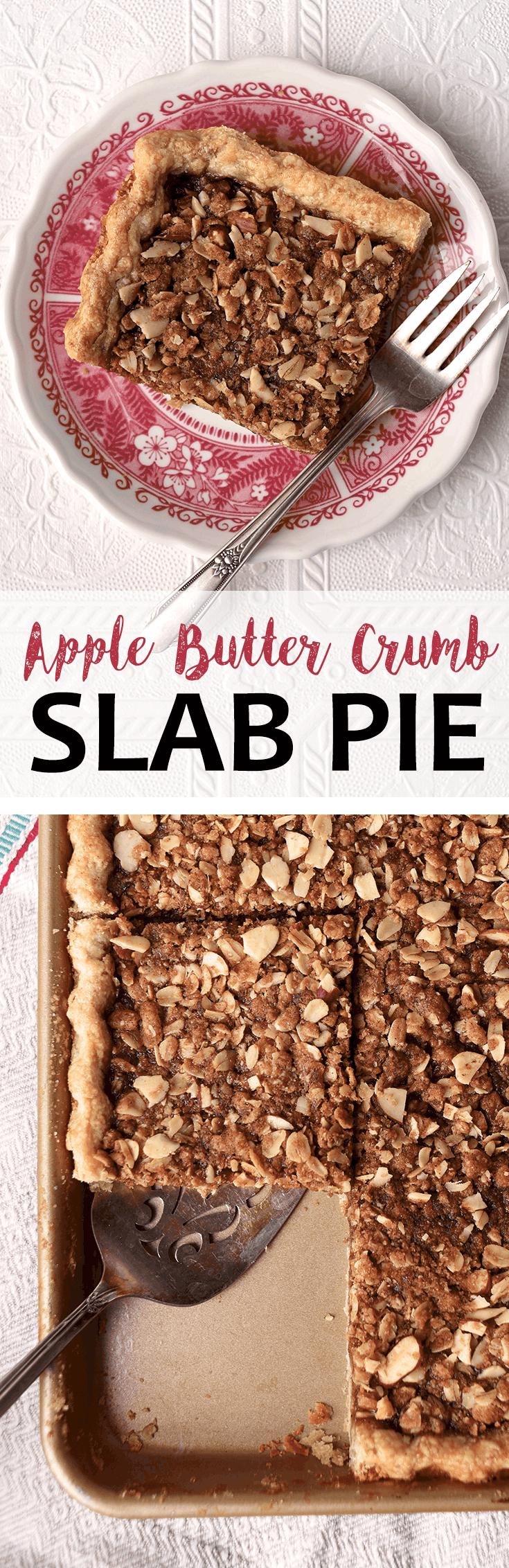 Apple Butter Crumb Slab Pie Pin - Apple Butter Crumb Slab Pie