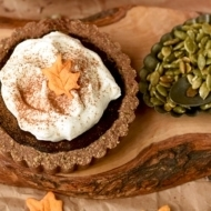 Pumpkin Chocolate Tarts with Pepita Crust