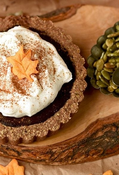 Pumkin Chocolate Tarts 6240 Slider 400x584 - Pumpkin Chocolate Tarts with Pepita Crust